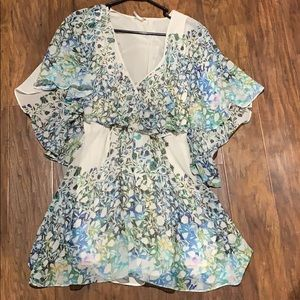 Free people cape/butterfly floral dress